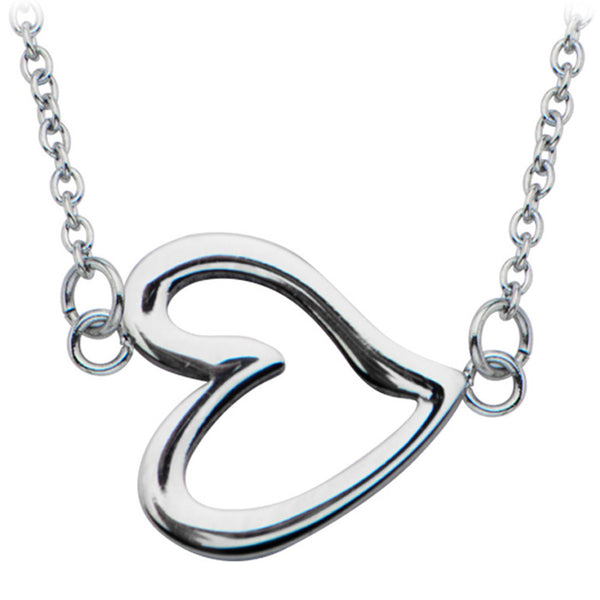 Inox 316L Steel 16 Inch Necklace With Heart Pendant