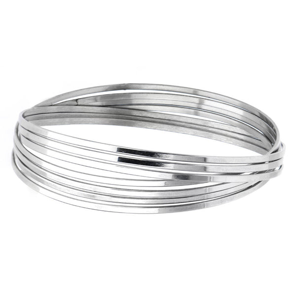 Inox 316L Steel Seven Bangle Women's Bracelet