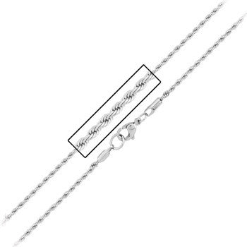 Inox 316L Steel Rope Lined Diamond Apex Cross Necklace