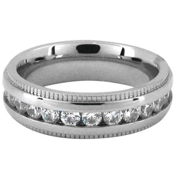 Inox Jewelry Cubic Zirconia 316L Stainless Steel Ring