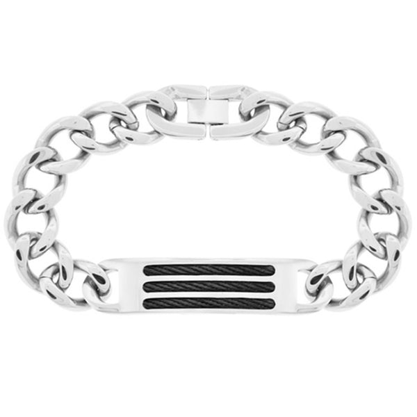 Inox Jewelry Men's Cable Stainless Steel Bracelet