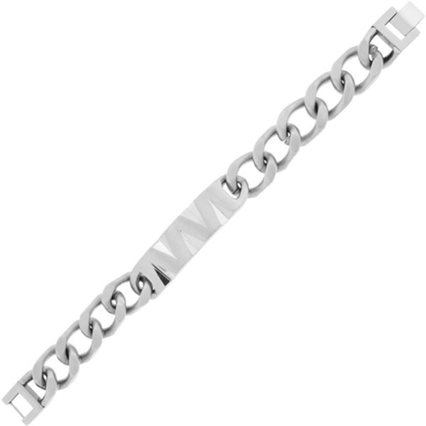 Inox Jewelry Men's Polished 316L Stainless Steel Bracelet