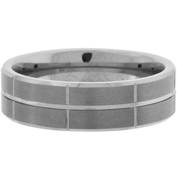 Inox Jewelry Men's Modern Tungsten Carbide Ring