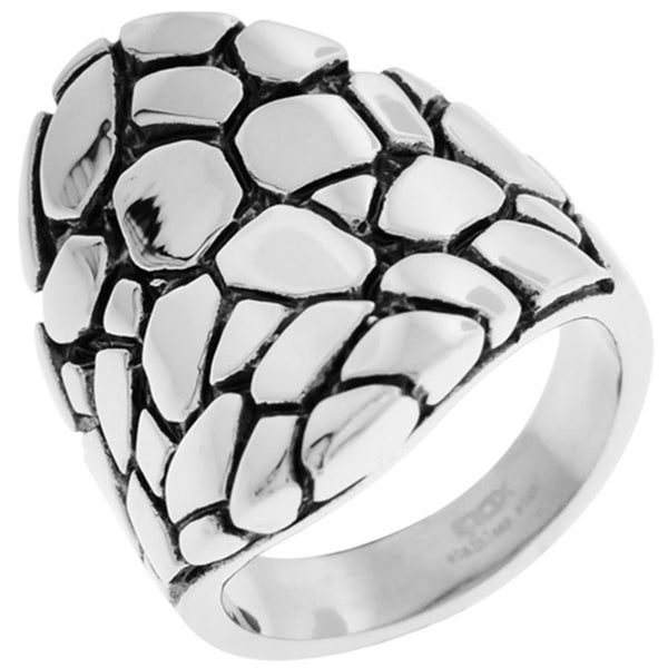 Inox Jewelry Women's Snake Skin 316L Stainless Steel Ring