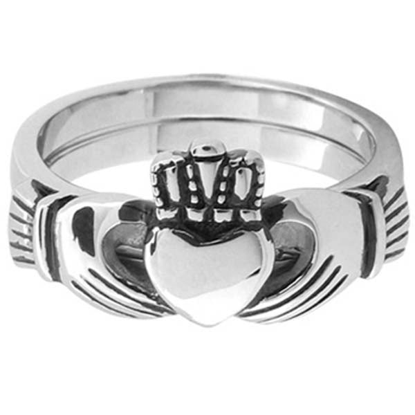 Inox Jewelry Women's Claddagh 316L Stainless Steel Ring