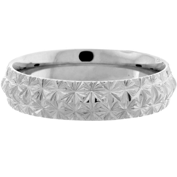 Inox Jewelry Men's Triangular Cut 316L Stainless Steel Band Ring