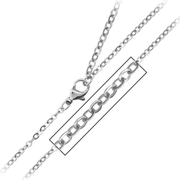 16 Inches - Inox Jewelry 316L Stainless Steel Chain Necklace