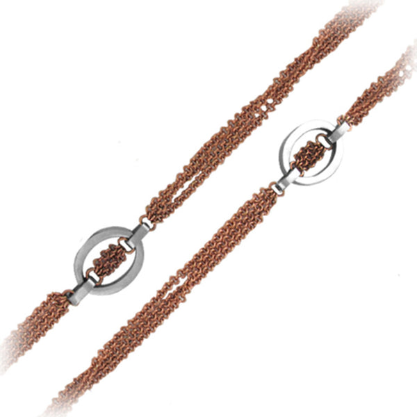 32 Inches - Inox Jewelry Rose Gold PVD 316L Stainless Steel Necklace