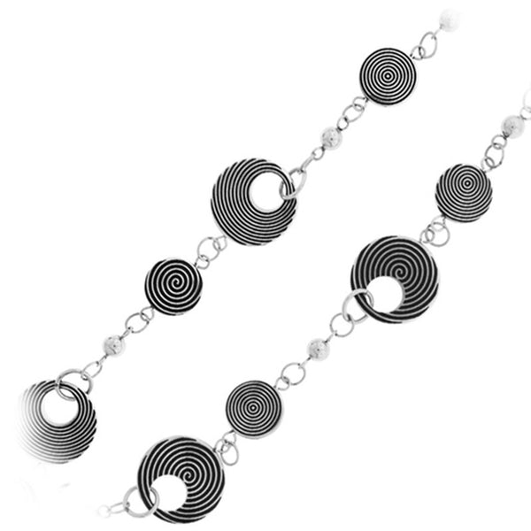 16 Inches - Inox Jewelry Women's Art Deco 316L Stainless Steel Necklace