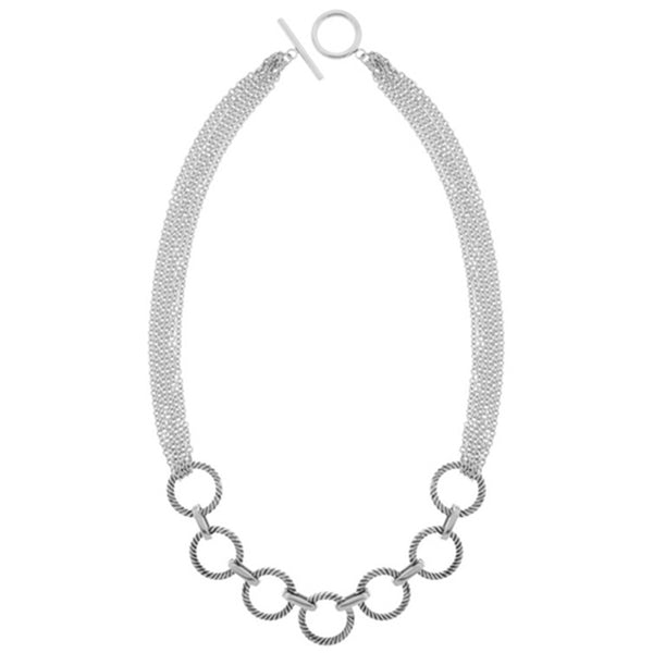 16 Inches - Inox Jewelry Women's Modern Circle 316L Stainless Steel Necklace