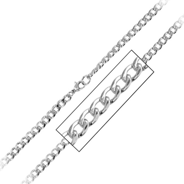 Inox Jewelry Men's 4.8mm Stainless Steel Chain Necklace