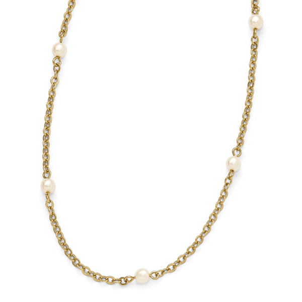 Gold Tone Downton Abbey Mingling Pearl Opera Necklace