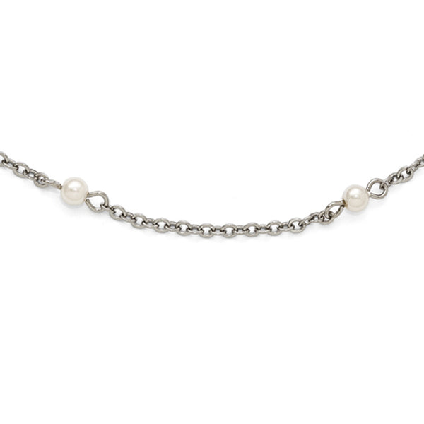 Silver Tone Downton Abbey Mingling Pearl Opera Necklace