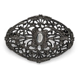 Black Plated Downton Abbey Laced Web Fashion Pin
