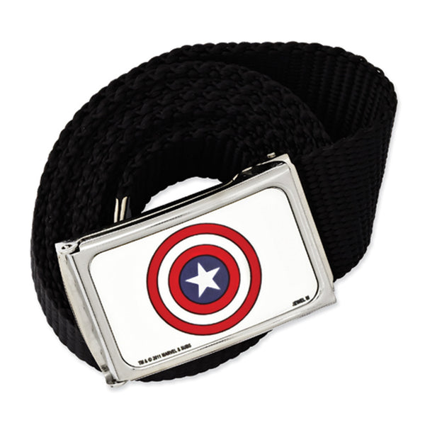 Licensed  Black Nylon Captain America Belt
