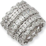 Sterling Silver Cubic Zirconia Eternity Ring by Cheryl M