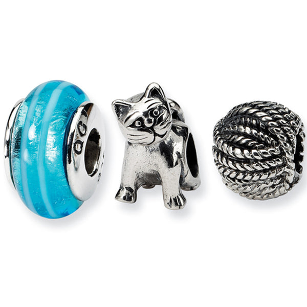 Reflection Beads Silver Cat Lover Boxed Bead Set