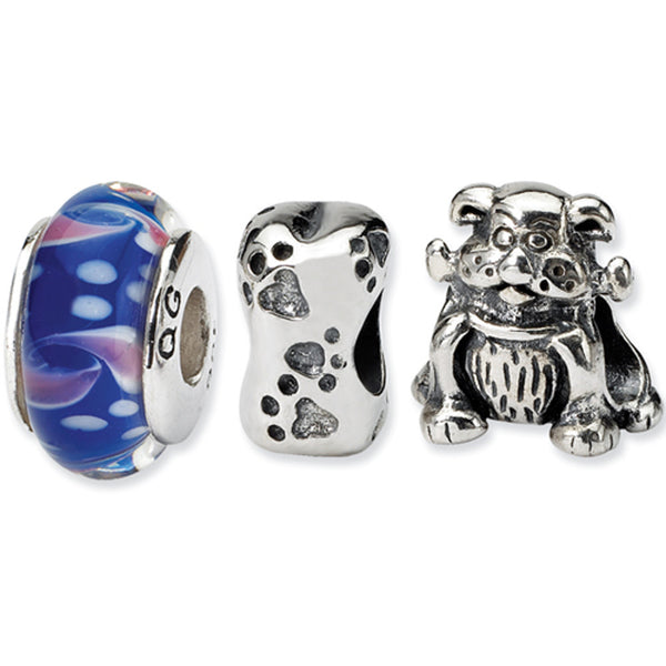 Reflection Beads Silver Dog lover Boxed Bead Set
