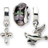 Reflection Beads Silver Religious Boxed Bead Set