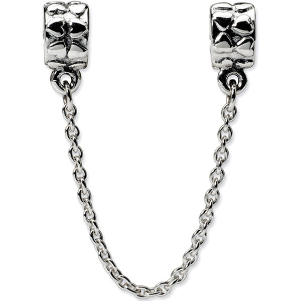 Reflection Beads Silver Security Chain with Heart Bead