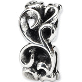 Reflection Beads Silver Scroll Connector Bead