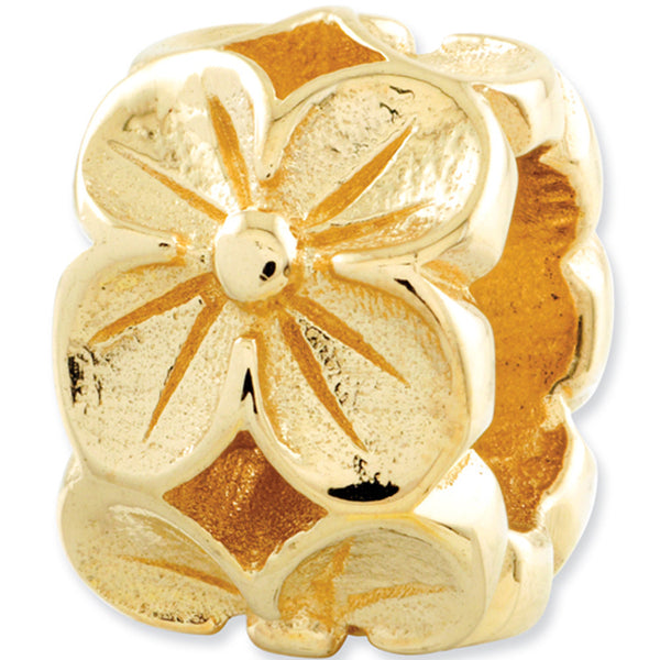 Reflection Beads 14kt Yellow Gold Poppy Flower Bead