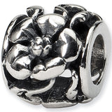 Reflection Beads Silver Haute Hibiscus Flower Bead