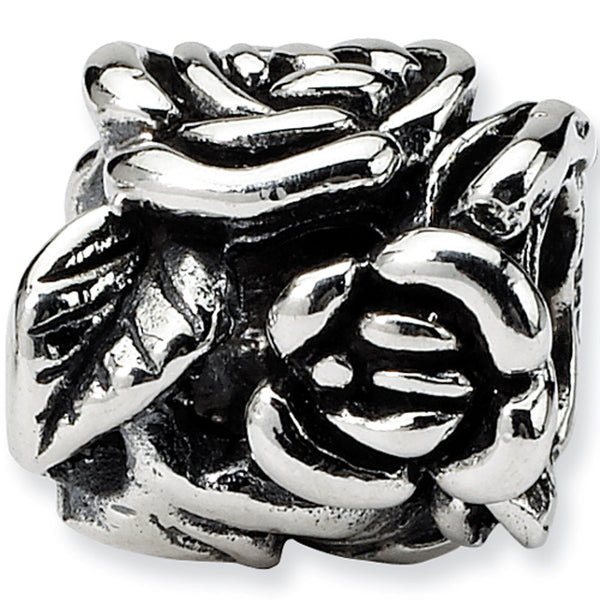 Reflection Beads Silver Rose Buds Flower Bead