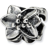 Reflection Beads Silver Open Azalea Flower Bead