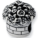 Reflection Beads Silver Bouquet Basket Flower Bead