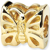 Reflection Beads 14kt Yellow Gold Butterfly Nature Bead