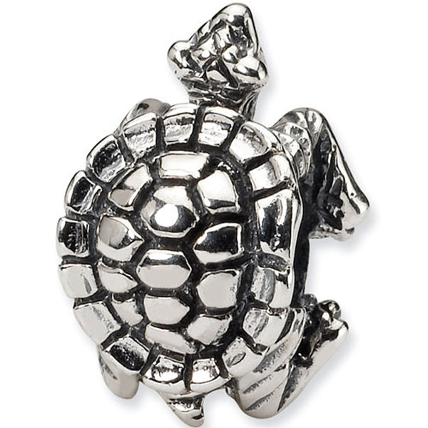 Reflection Beads Silver Sea Turtle Nature Bead