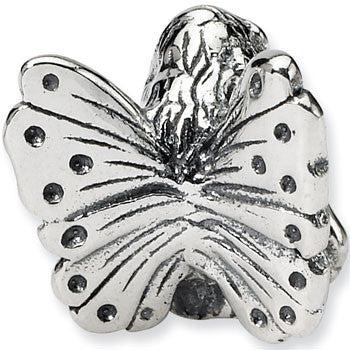 Reflection Beads Silver Butterfly Fairy Nature Bead