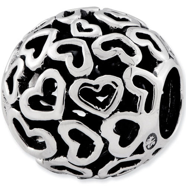 Reflection Beads Silver Heartfelt Globe Love Bead