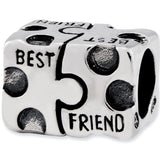 Reflection Beads Silver Best Friend Puzzle Family Bead