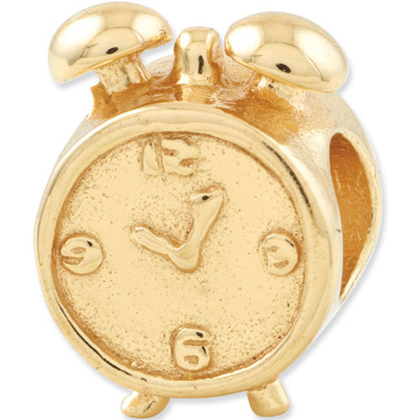 Reflection Beads Silver Gold Plated Alarm Clock Home Bead