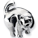 Reflection Beads Silver Scary Cat Celebrate Bead