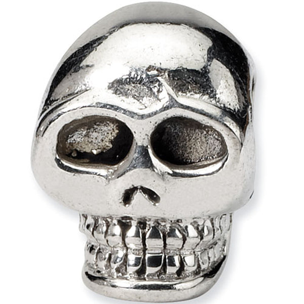 Reflection Beads Silver Scary Skull Celebrate Bead
