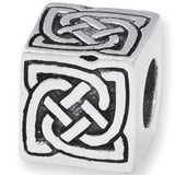 Reflection Beads Silver Knot Box Celtic bead