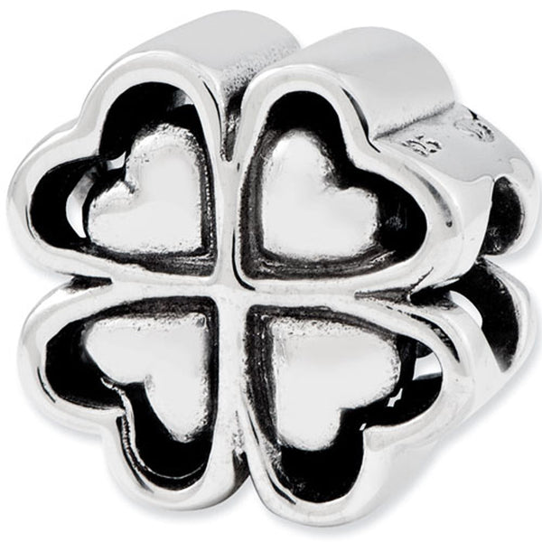 Reflection Beads Silver Heart Leaf Clover Celtic Bead