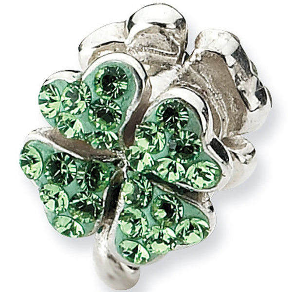 Reflection Beads Lime Irish Bead Created with Swarovski Crystals