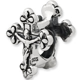 Reflection Beads Silver Crucifix Religious Bead