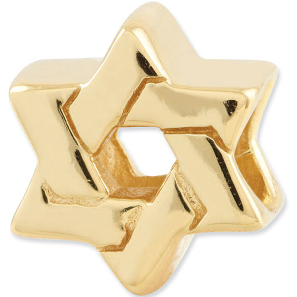 Reflection Beads Silver Gold Plated Star of David Religious Bead