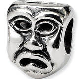 Reflection Beads Silver Tragedy Mask Entertainment Bead