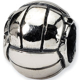 Reflection Beads Silver Volleyball Sports Bead