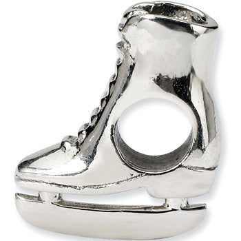 Reflection Beads Silver Ice Skate Sports Bead