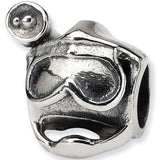 Reflection Beads Silver Scuba Mask Sports Bead