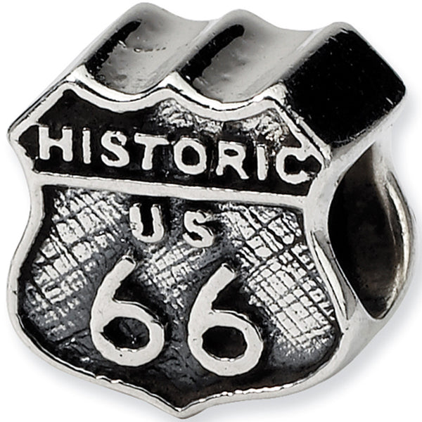 Reflection Beads Silver Route 66 Travel Bead