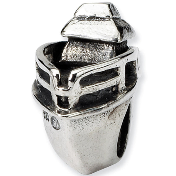Reflection Beads Silver Boat Travel Bead