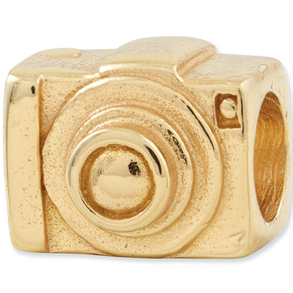 Reflection Beads Silver Gold Plated Camera Travel Bead